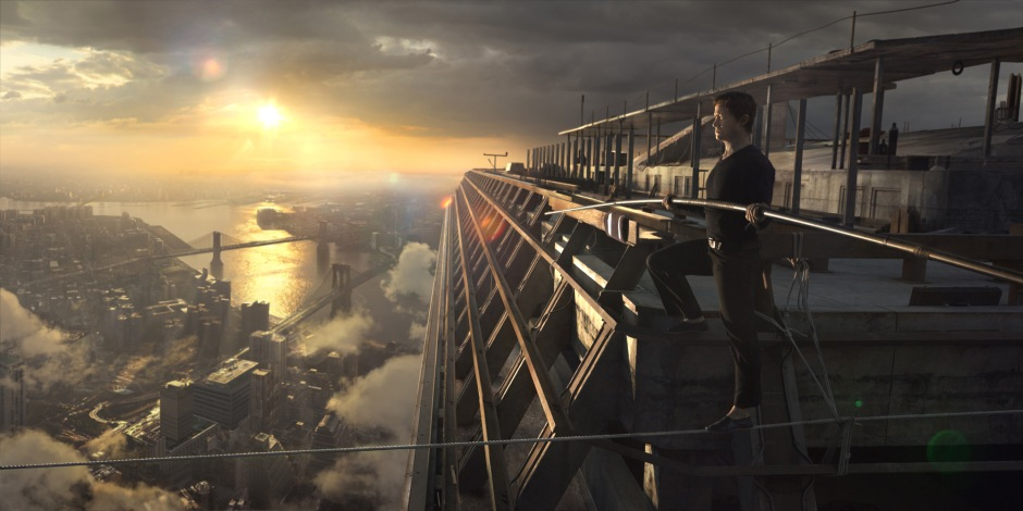 Philippe Petit (Joseph Gordon-Levitt) in TriStar Pictures' THE WALK.