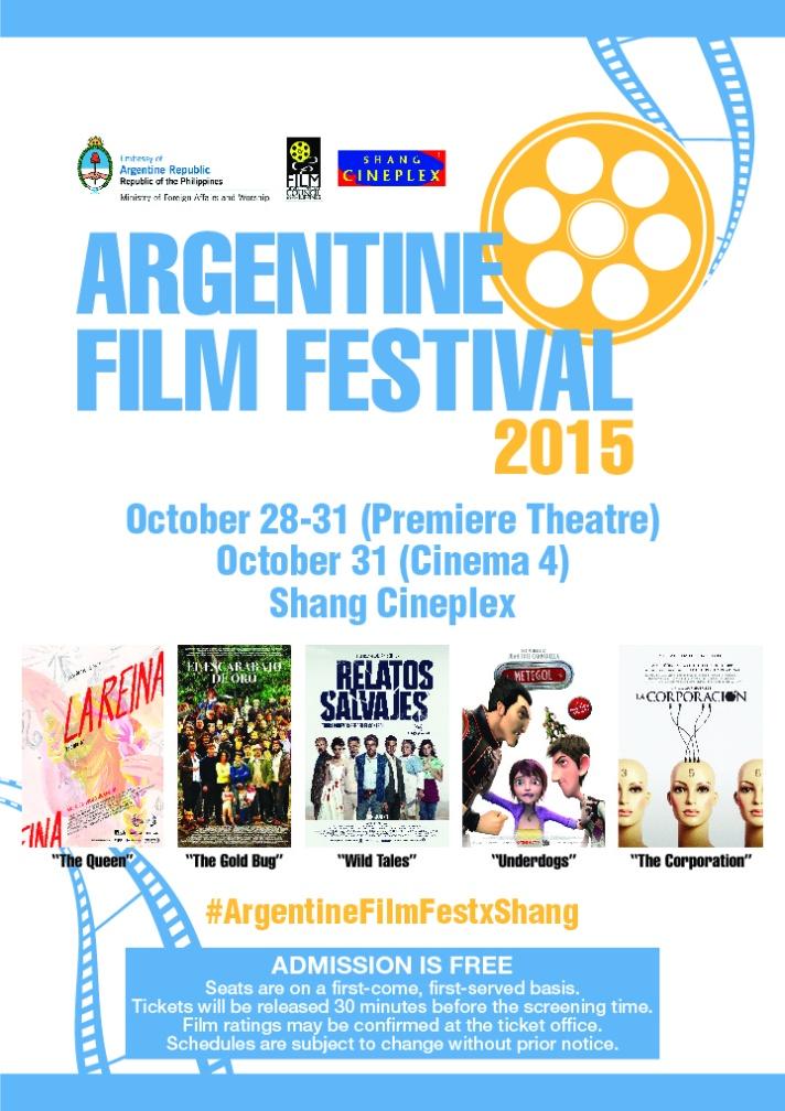 ANGENTINE FILM FESTIVAL 2015 POSTER