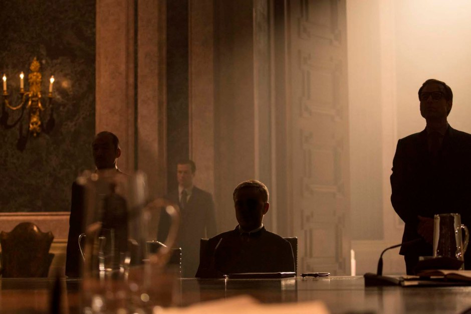 Oberhauser played by Christoph Waltz (centet) in Metro-Goldwyn-Mayer Pictures/Columbia Pictures/EON Productions' action adventure SPECTRE.