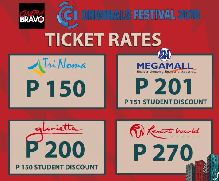 cinema one originals 2015 ticket rates