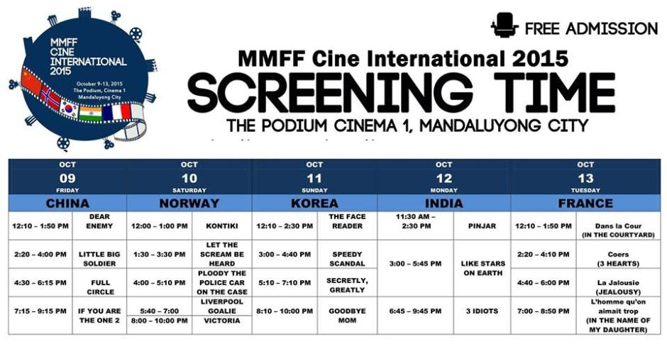 mmff cine international 2015 schedule