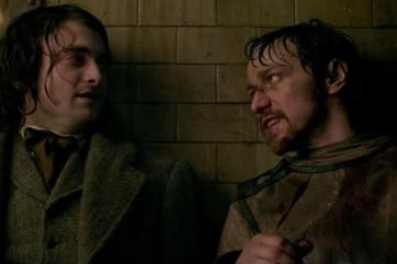 daniel radcliffe & james mcavoy as VICTOR FRANKENSTEIN