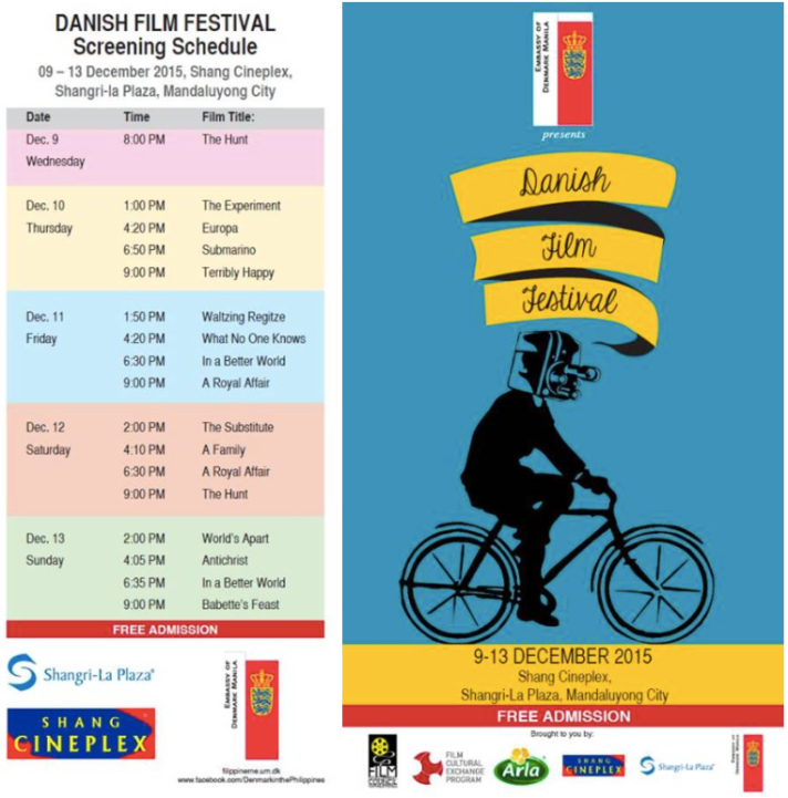 Danish Film Festival 2015 Screening Schedule