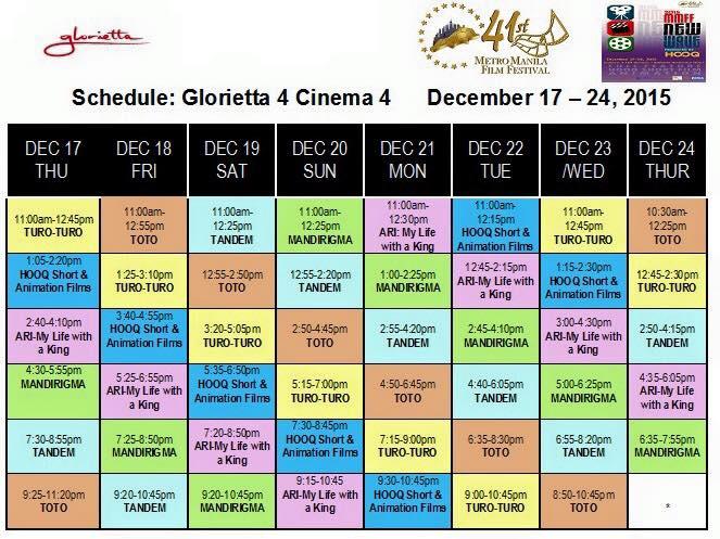 mmff new wave 2015 glorietta schedule