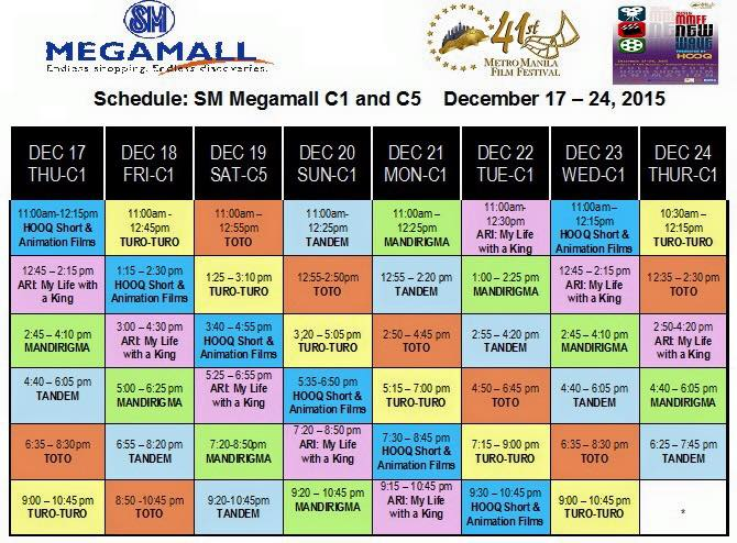mmff new wave 2015 megamall schedule