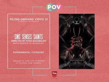 Piling Obrang Vidyo - Sins Senses Saints