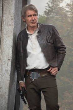 Han Solo (Harrison Ford)..Ph: David James..© 2015 Lucasfilm Ltd. & TM. All Right Reserved.