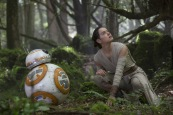 BB-8 and Rey (Daisy Ridley)..Ph: David James..? 2015 Lucasfilm Ltd. & TM. All Right Reserved.