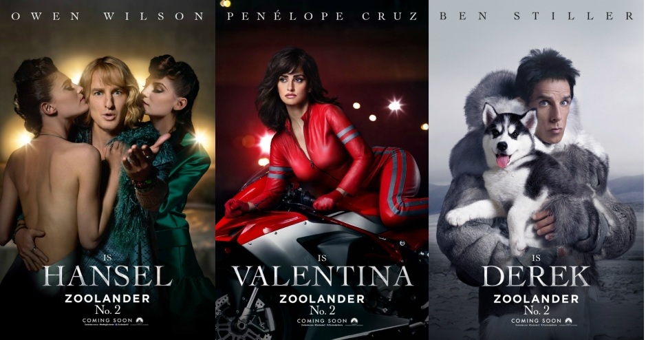 zoolander 2 character posters
