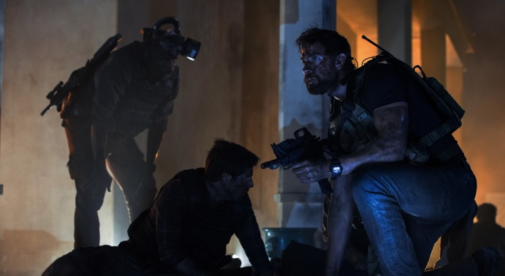 Left to right: Demetrius Grosse plays DS Dave Ubben, David Giuntoli plays DS Scott Wickland and John Krasinski plays Jack Silva in 13 Hours: The Secret Soldiers of Benghazi from Paramount Pictures and 3 Arts Entertainment / Bay Films in theatres January 15, 2016.
