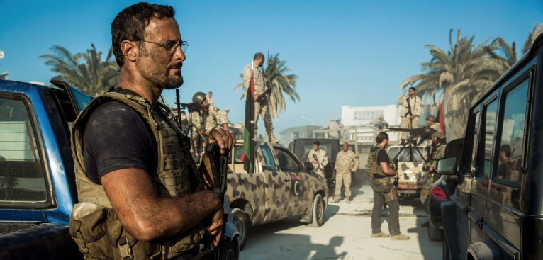 "Dominic Fumusa plays John ""Tig"" Tiegen in 13 Hours: The Secret Soldiers of Benghazi from Paramount Pictures and 3 Arts Entertainment / Bay Films in theatres January 15, 2016."