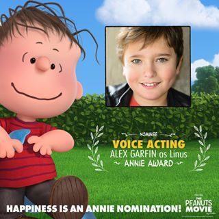 Alex Garfin voices Linus.