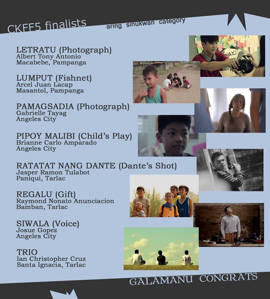 cinekabalen 2016 finalists