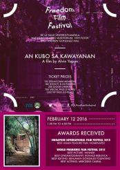 freedom film festival 2016 an kubo sa kawayanan