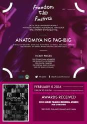 freedom film festival 2016 anatomiya ng pag-ibig