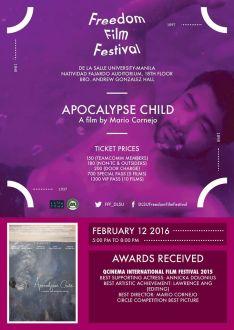 freedom film festival 2016 apocalypse child