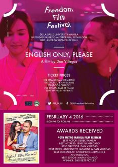 freedom film festival 2016 english only please