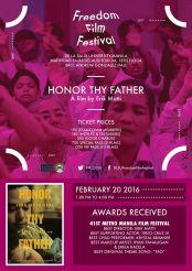 freedom film festival 2016 honor thy father