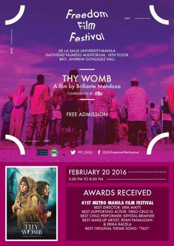 freedom film festival 2016 thy womb