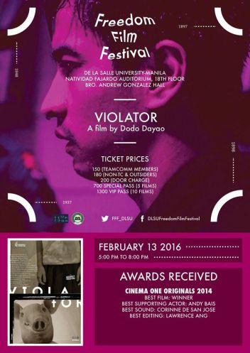 freedom film festival 2016 violator