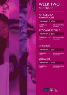 Freedom Film Festival 2016 Week 2 schedule