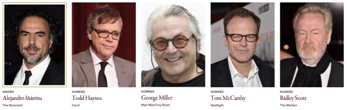 Golden Globe Awards 2016 Best Director - Motion Picture