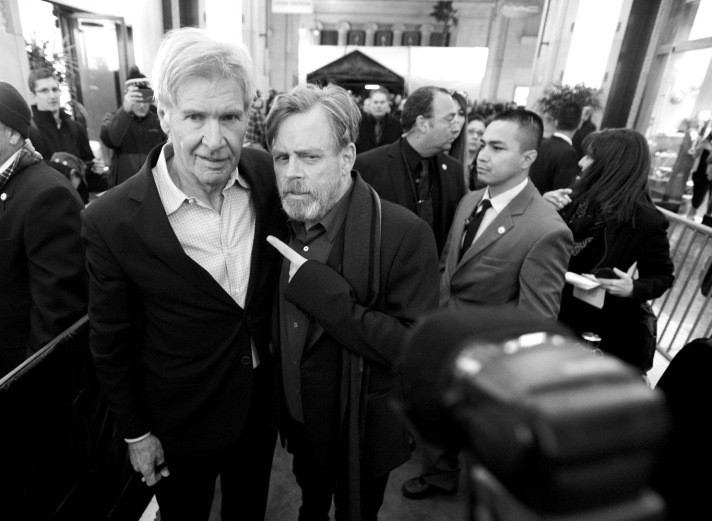 Harrison Ford and Mark Hamill.