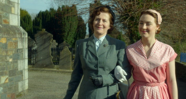 "Jane Brennan as ""Mary"" and Saoirse Ronan as ""Eilis"" in BROOKLYN. Photo courtesy of Fox Searchlight Pictures. © 2015 Twentieth Century Fox Film Corporation All Rights Reserved"