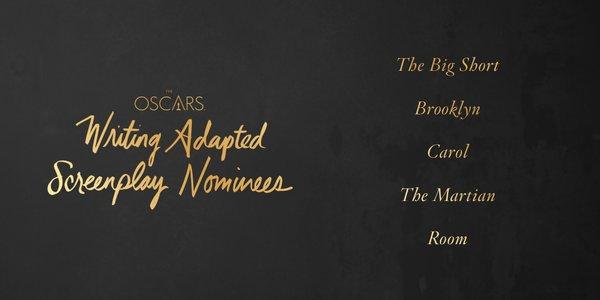 Oscars 2016 best adapted screenplay