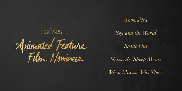 Oscars 2016 best animated feature film