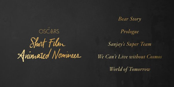 Oscars 2016 best animated short