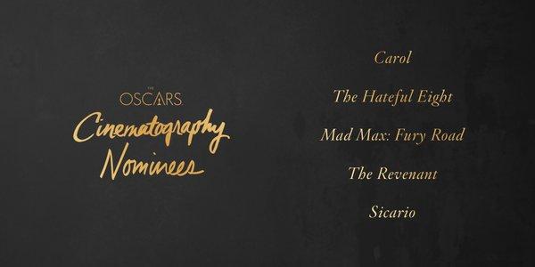 Oscars 2016 best cinematography