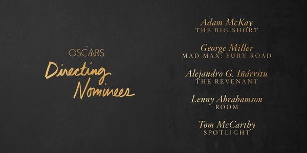 Oscars 2016 best director