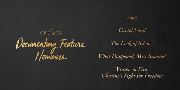 Oscars 2016 best documentary feature