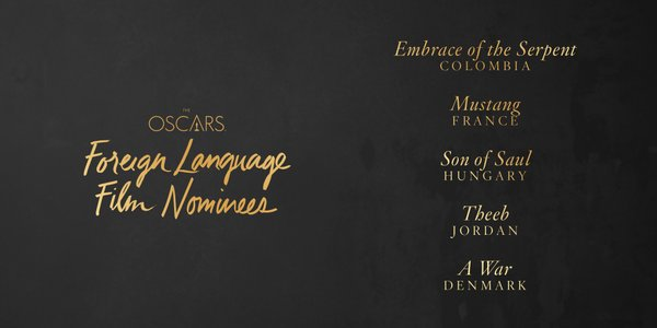 Oscars 2016 best foreign language film