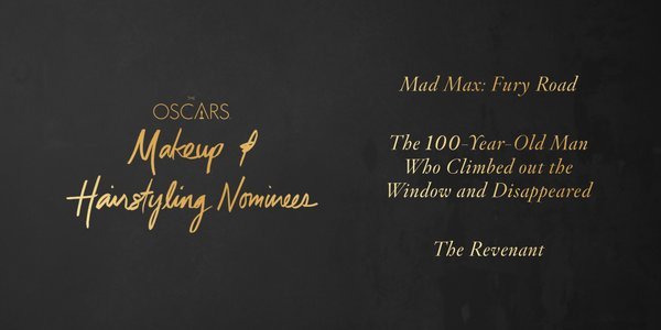Oscars 2016 best makeup and hairstyling