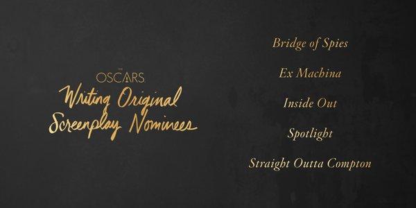 Oscars 2016 best original screenplay
