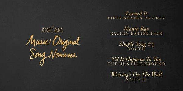 Oscars 2016 best original song