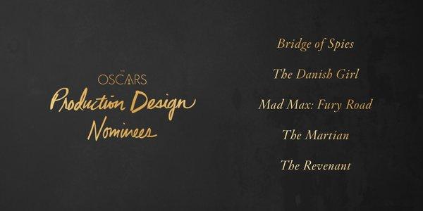 Oscars 2016 best production design