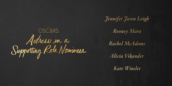 Oscars 2016 best supporting actress