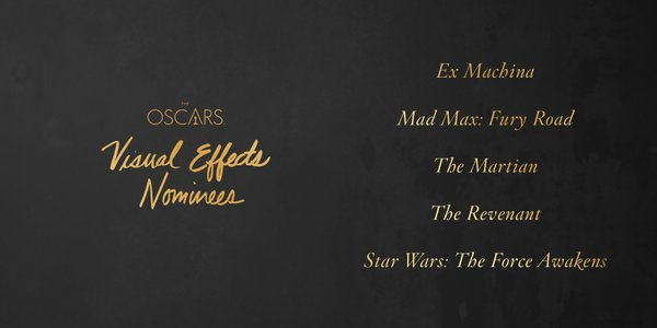 Oscars 2016 best visual effects