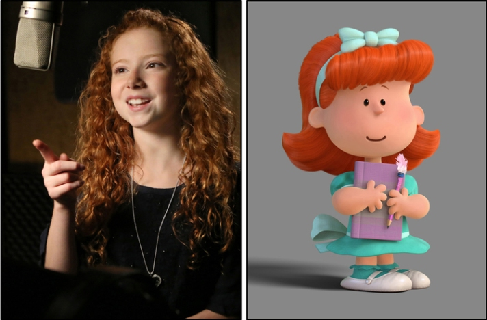 Francesca Capaldi voices The Little Red-Haired Girl.