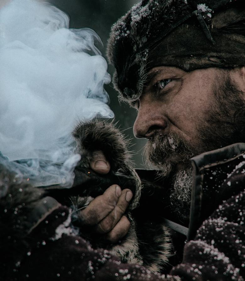 tom hardy as John Fitzgerald in THE REVENANT_