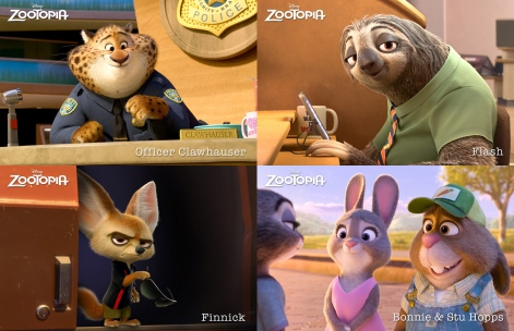 Zootopia-3Clawhauser_Flash_Finnick_Bonnie&StuHopps