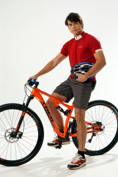Kit with bike pictorial