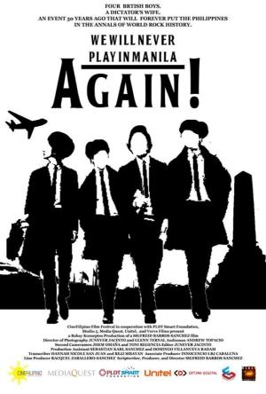 cinefilipino we will never play in manila again movie poster