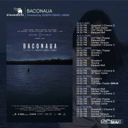 baconaua cinemalaya screening schedules