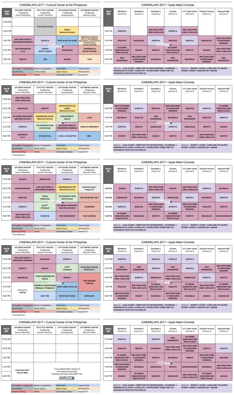 cinemalaya 2017 schedule aug 9-13