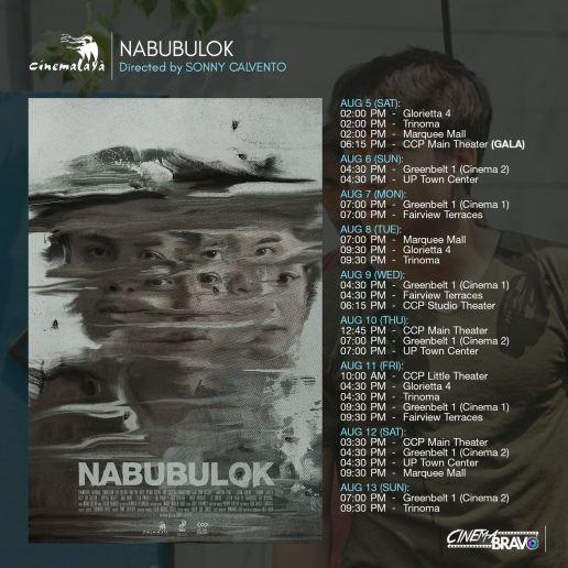 nabubulok cinemalaya screening schedules