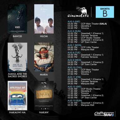 shorts b cinemalaya screening schedules